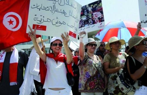 Manifestation contre les atteintes aux droits des femmes © AFP